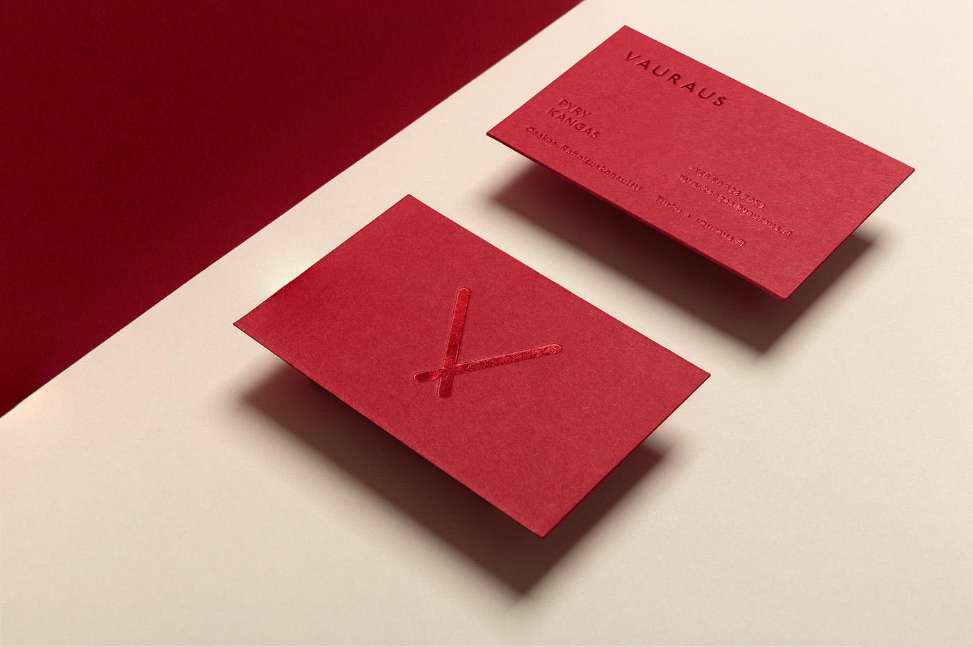 helsinki Investment banking visual identity stationary business card