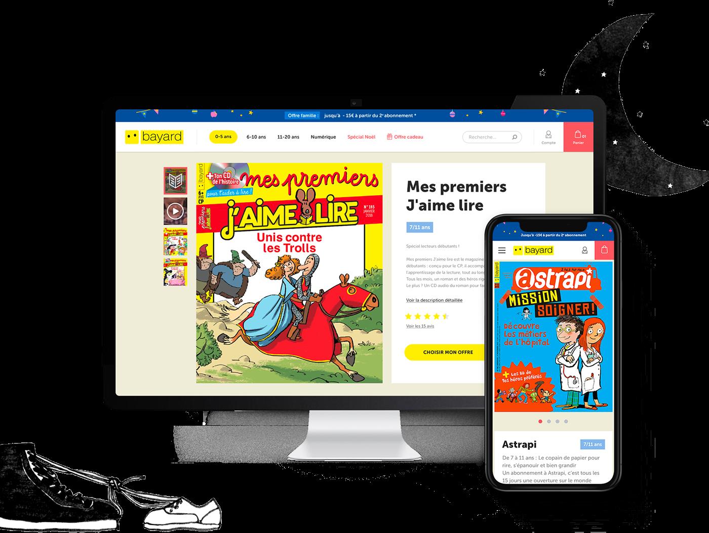 eshop Ecommerce Webdesign ui design UX design Jeunesse digital direction artistique