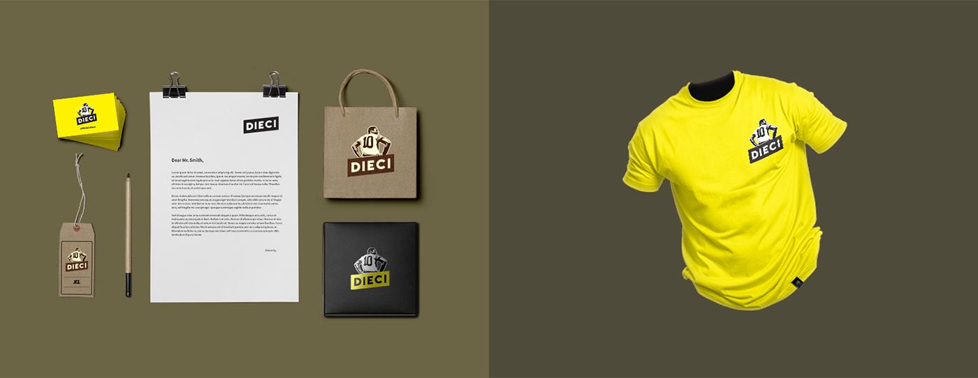 brand concept Dieci Sport graphic design  sport