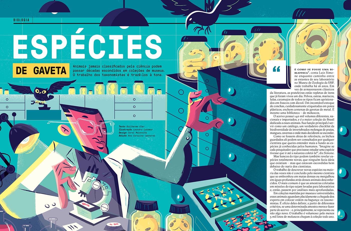 design Ilustração Super interessante abril Editora editorial ILLUSTRATION  science Education magazine