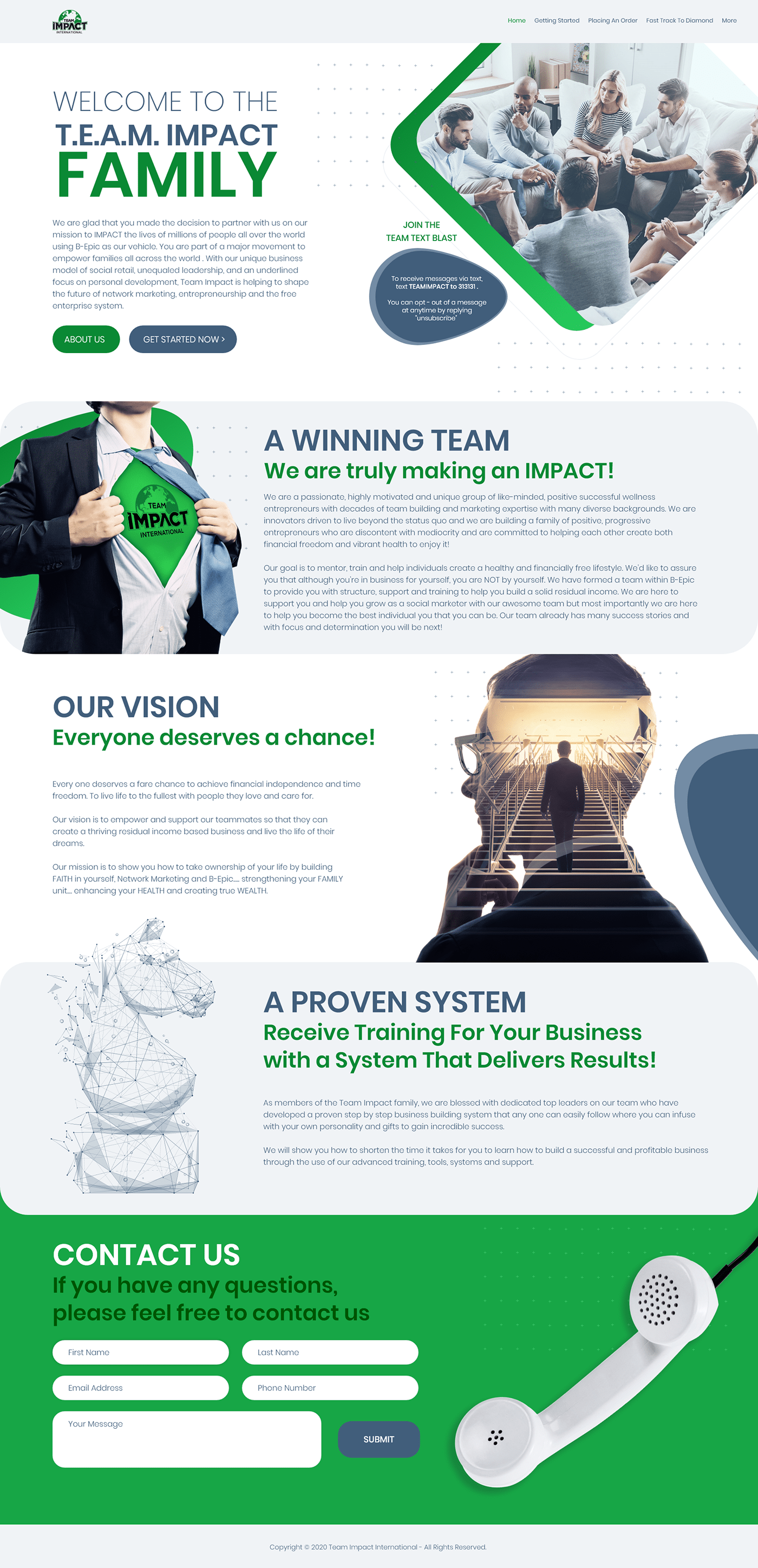 blue Business Website clean website company website design corporate green green and blue modern professional Professional website