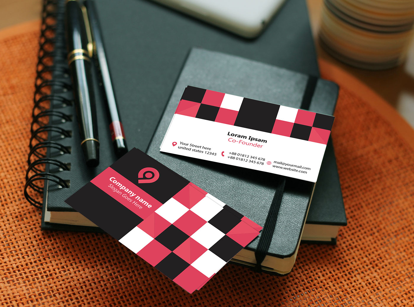 creative,corporate,branding ,colorfull,red,black