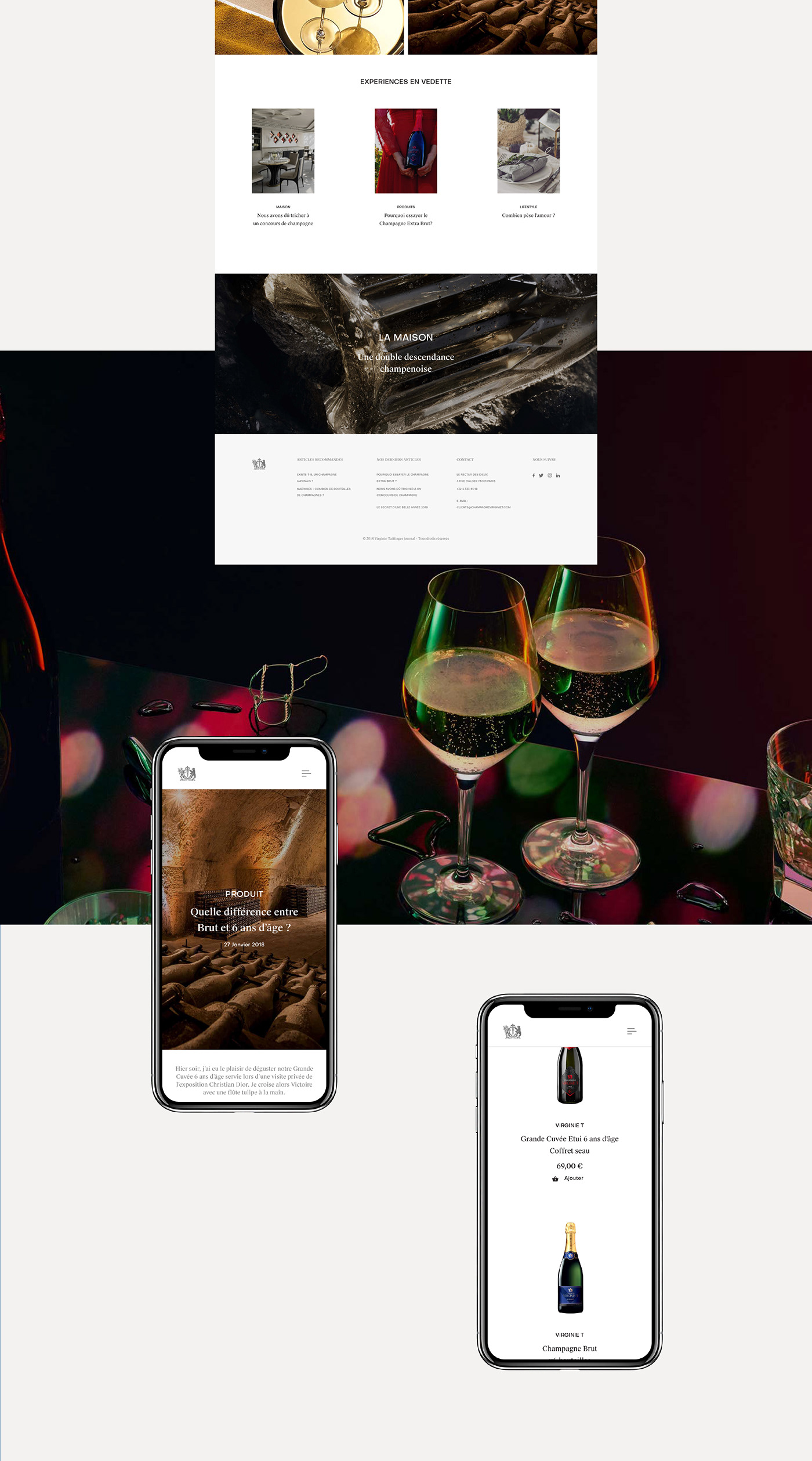 ui design UI/UX Design interactions Brand Site luxury