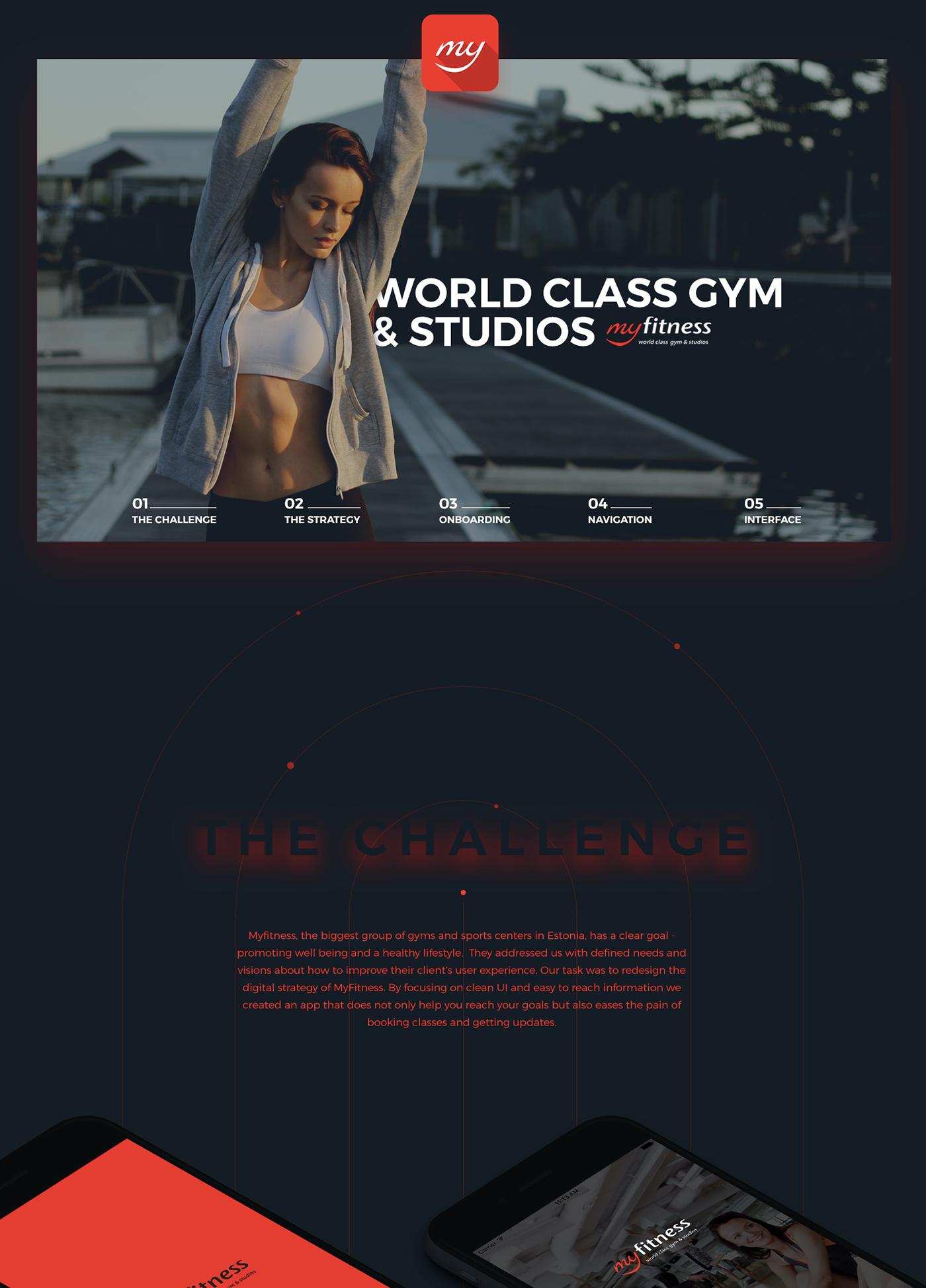 fitness heath sports studio gym mobile ux/ui user experience Estonia sport