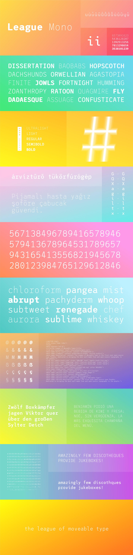 League Mono - Variable, Open Source, Monospace Font on Behance