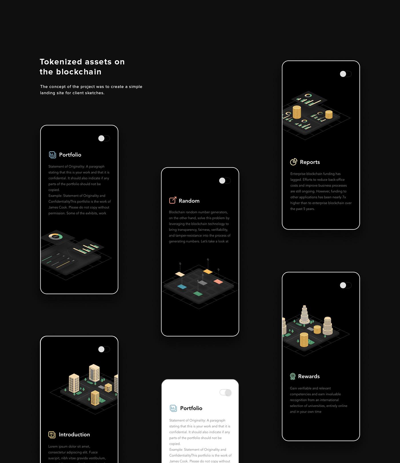 blockchain buildings design designbysketch landing token Webdesign whitepaper