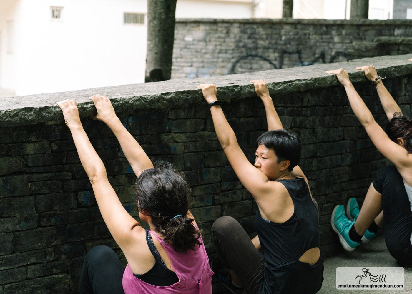 parkour L'art Du Deplacement movement women basque country spain lotzenadd