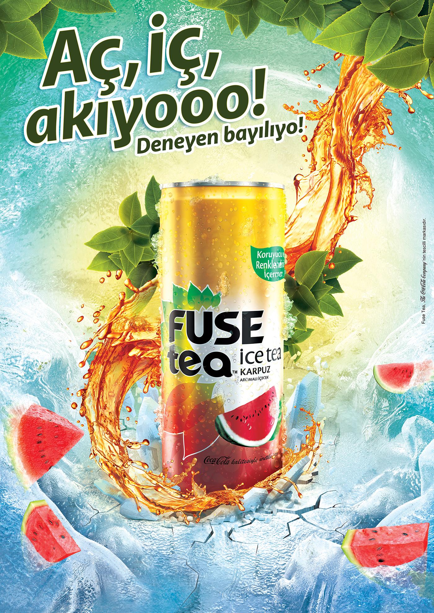 fuse tea    print ads on behance