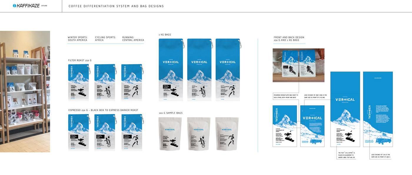 vertical Coffee specialtycoffee Packaging ILLUSTRATION  logo branding