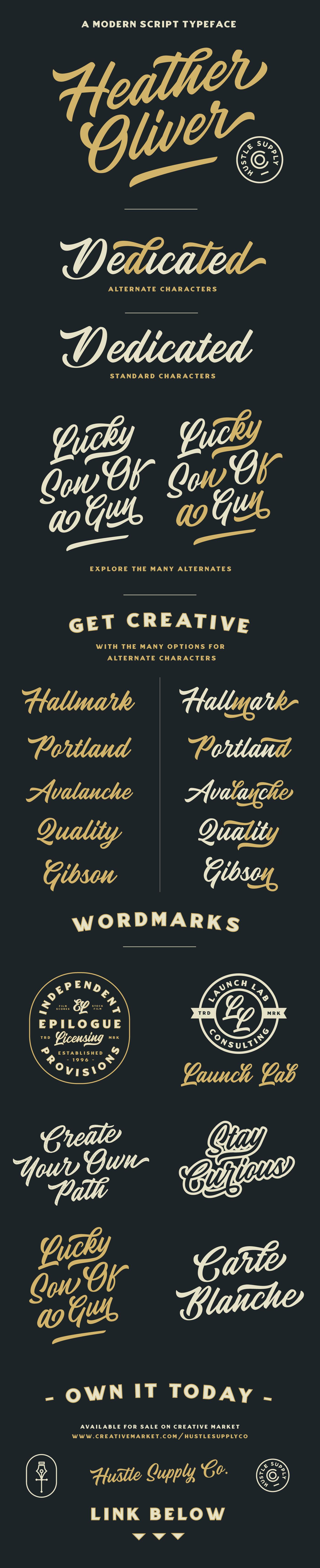 Script font Typeface Calligraphy   lettering HAND LETTERING vintage logo wordmark vintage typography