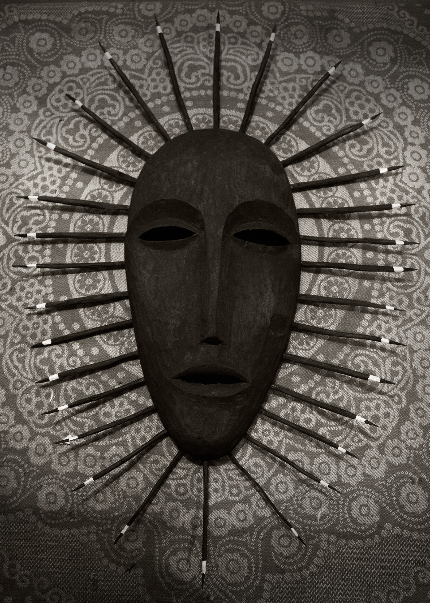 hand made wood mask art painting   africa cult shaman indians fine art