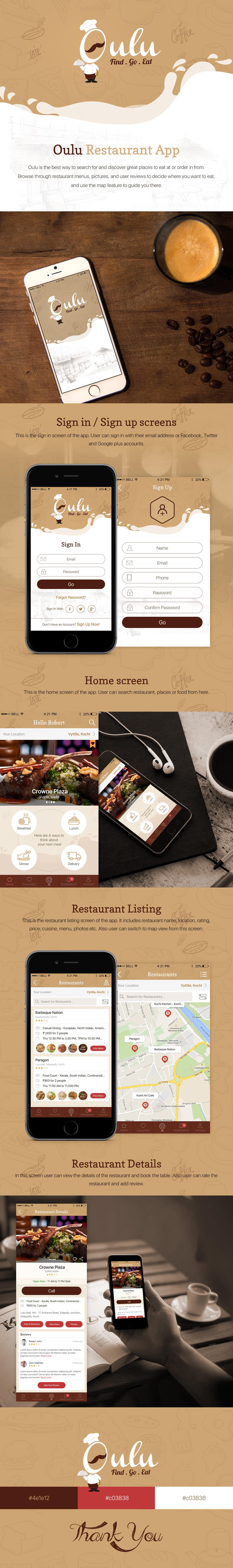 restaurant Restaurant app iphone app iOS App design