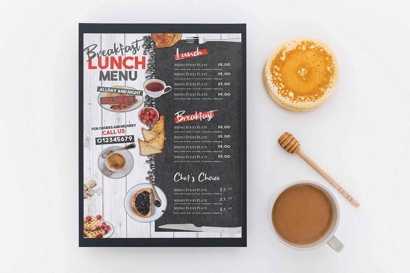 Image may contain: indoor, food and menu