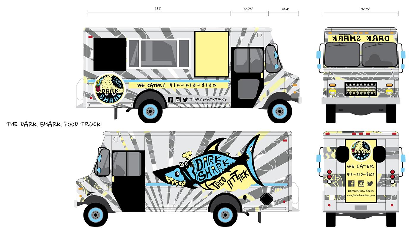 Dark Shark Taco Food Truck