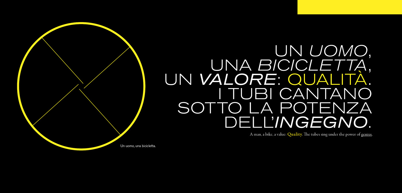 colnago copywriting  made in italy video poster Bicycle copy Cycling lettering graphic