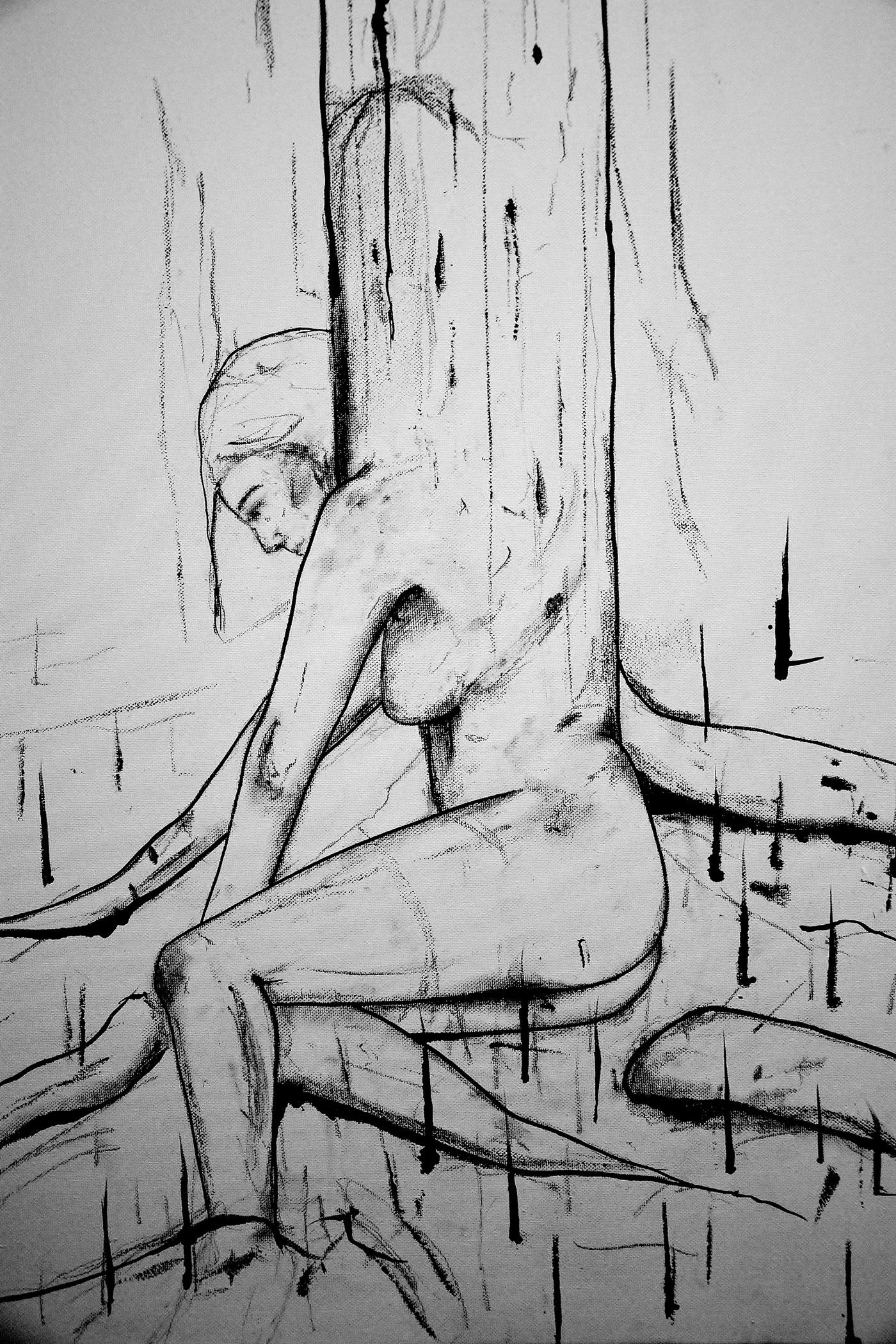 olivia weiss baum Frau Tree  woman constantin göttfert märchen Das Mädchen und seine Liebhaber