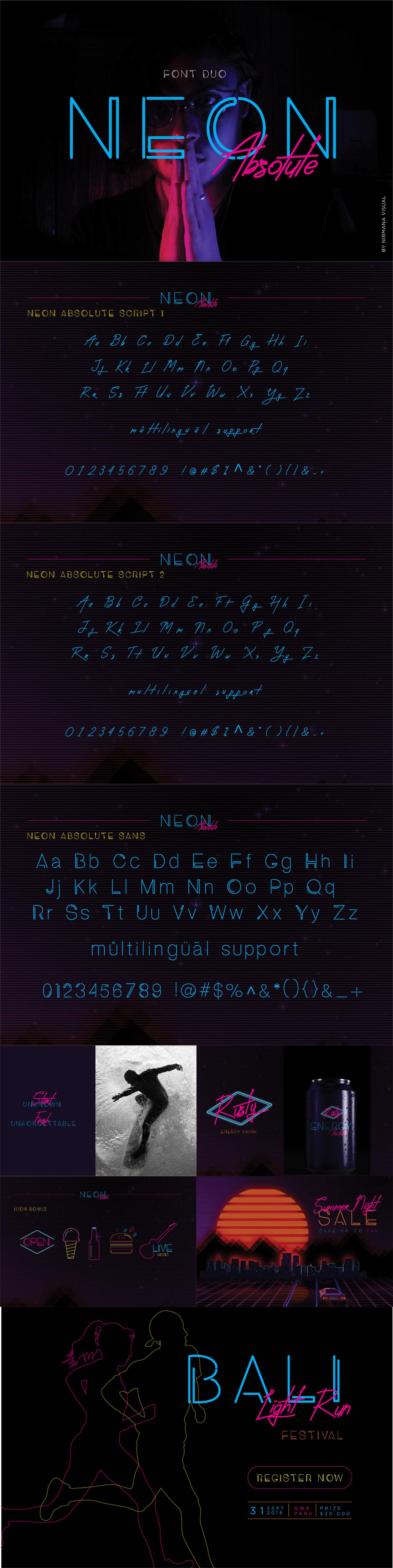 Шрифт – Neon Absolute