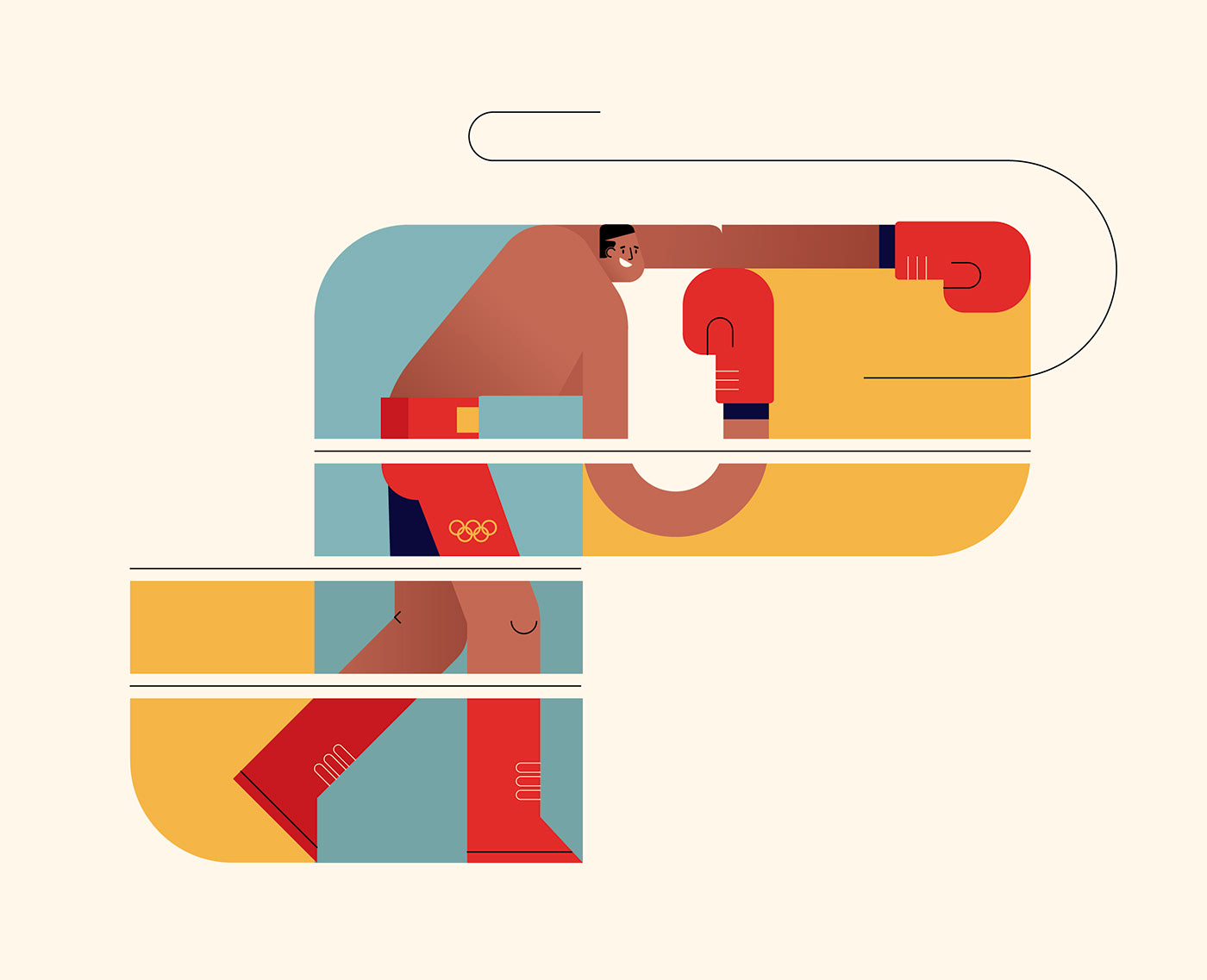 ILLUSTRATION  Olympics sport Tokyo2020 vector basketball Character gymnastics sports surfing