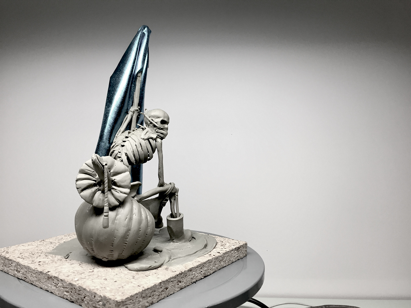 sculpture skull Character design concept