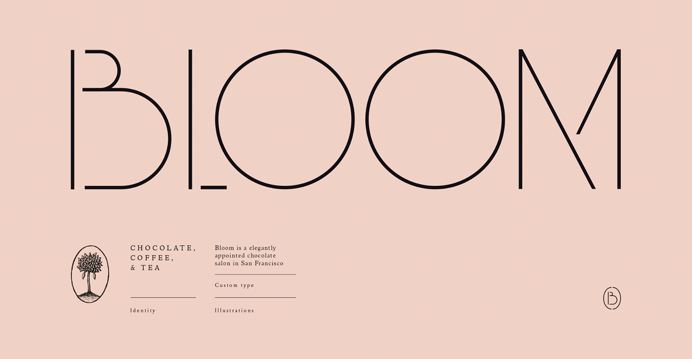 architecture bloom cacao cafe chocolate dandelion factory identity san francisco typography