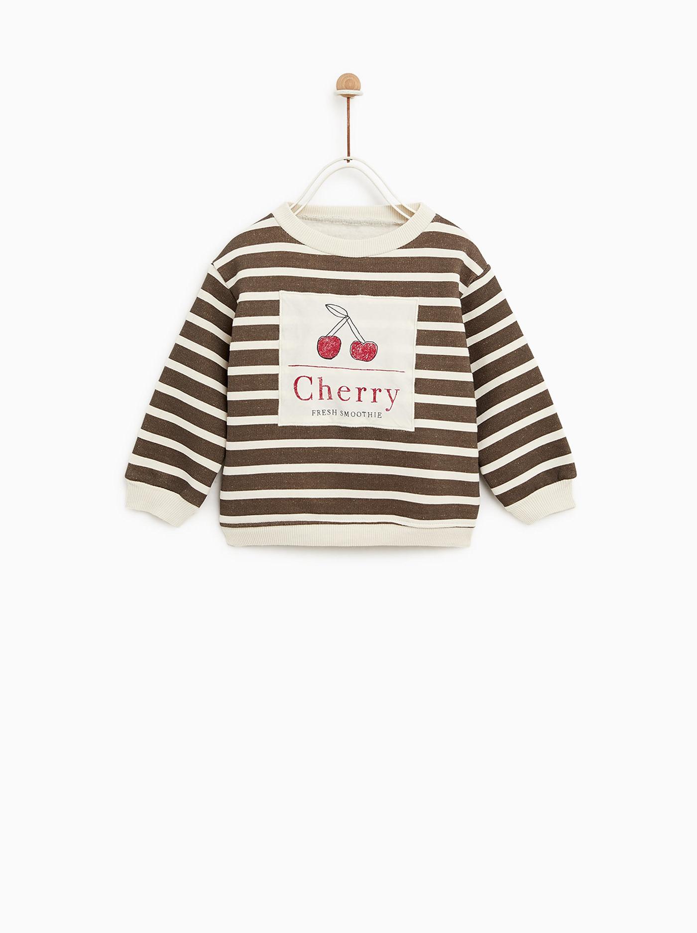 Cherry sweatshirt for Zara Baby Girl AW18 on Behance