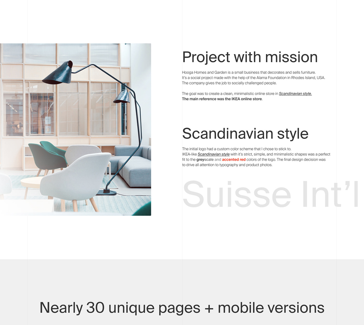 e-commerce Ecommerce hygge ikea Minimalism minimalistic online store Scandinavian swiss typograpgy typography
