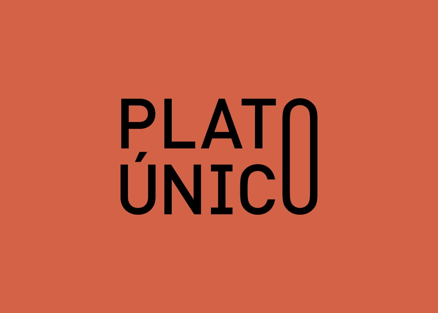 diseño branding  Logotipo restaurante platúnic barcelona diseñografico lacomastudio
