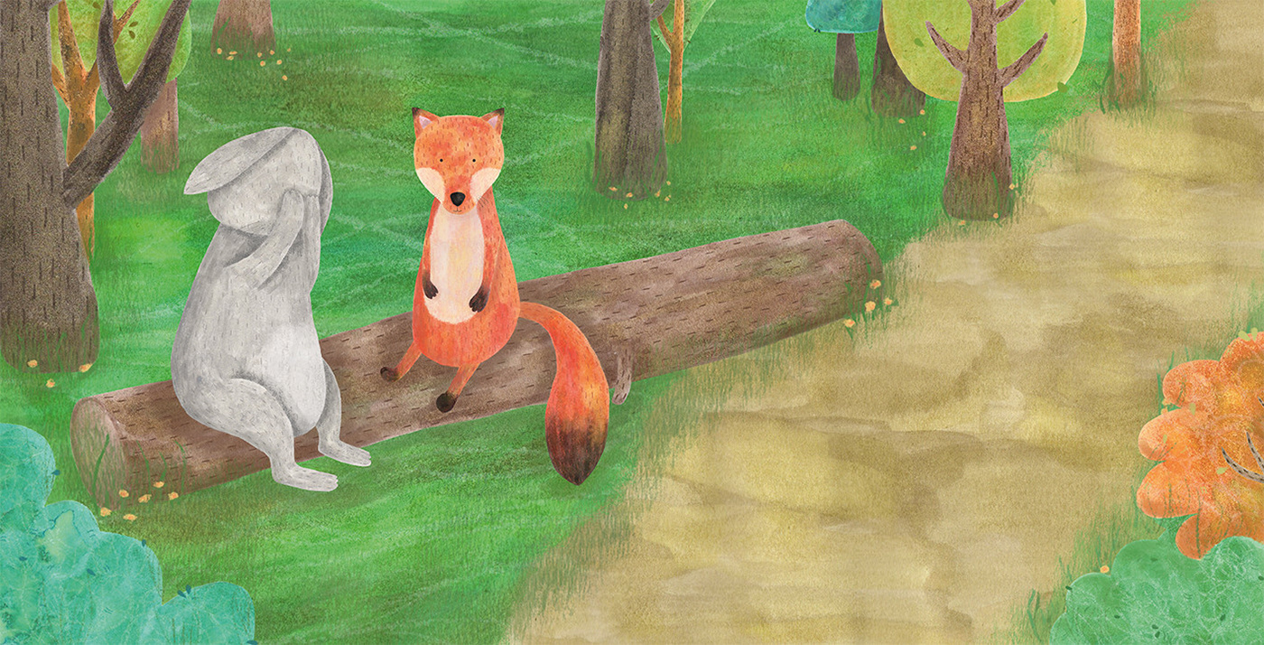 ILLUSTRATION  Character animals mental health anxiety children's book childrens illustration woods Nature rabbit