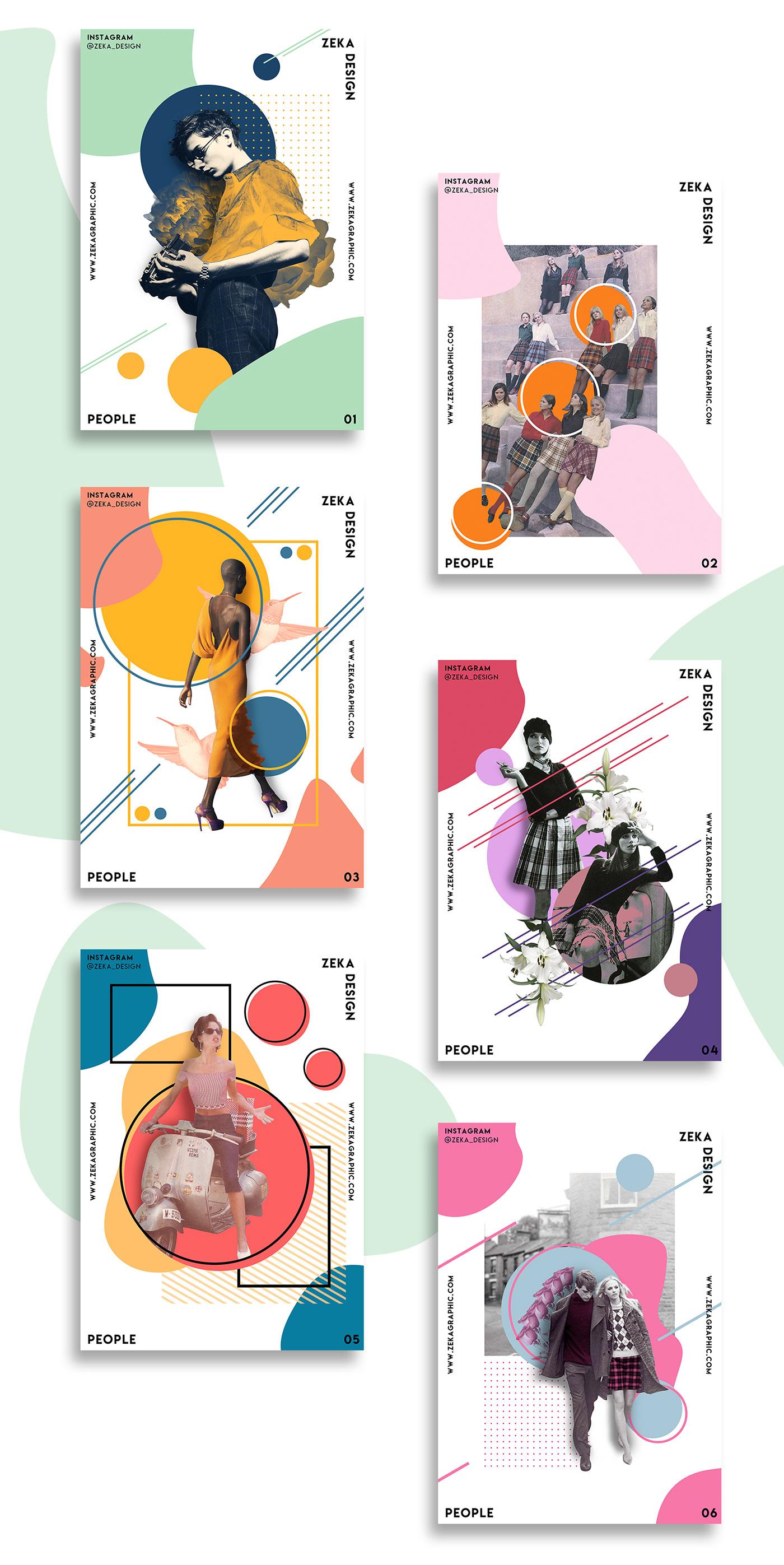 Poster Design graphic design  poster Minimalism art direction  print design  people zeka design colorful design