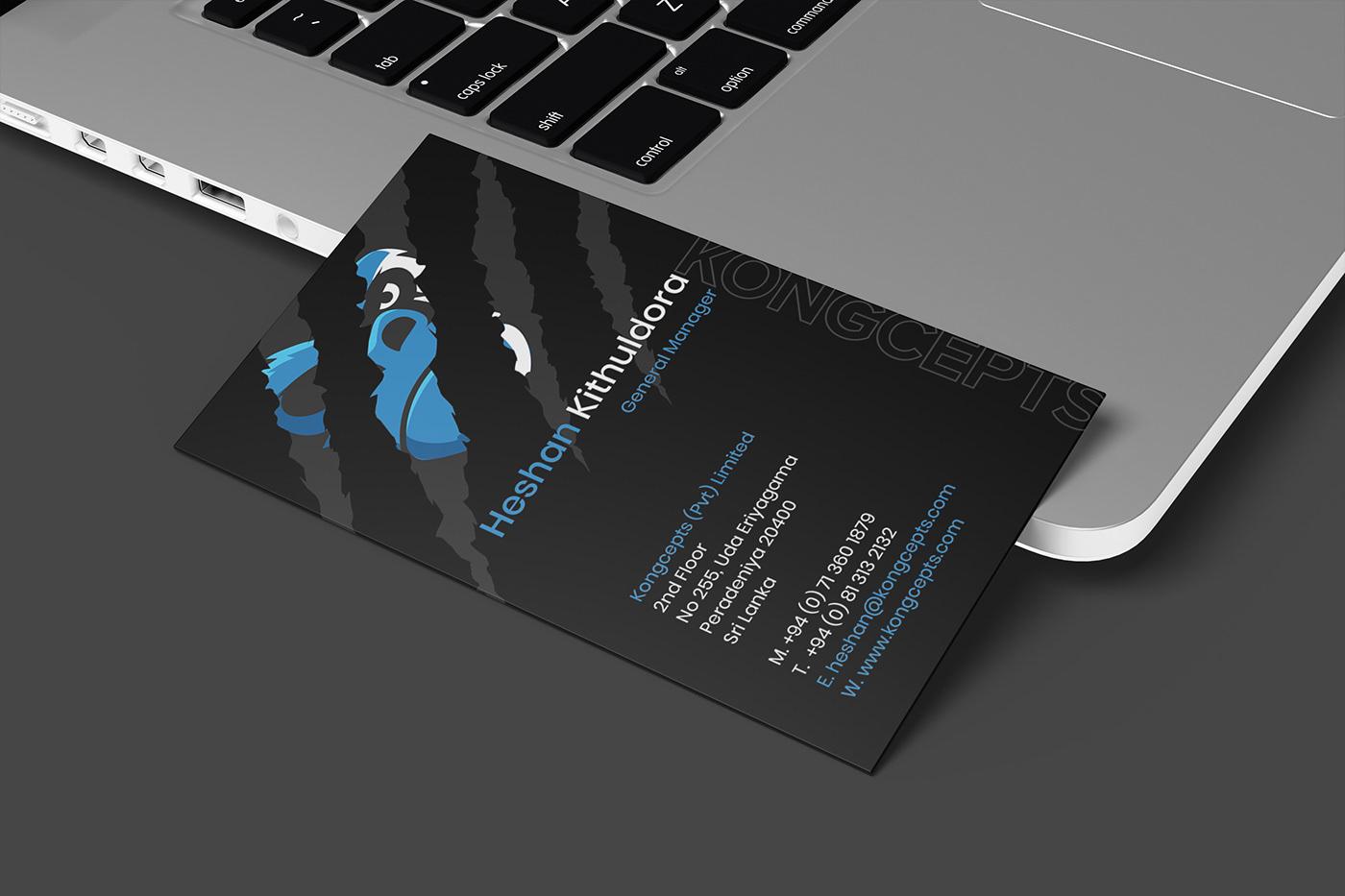 black black and blue blue business card Business card design Business Stationery card design visiting card