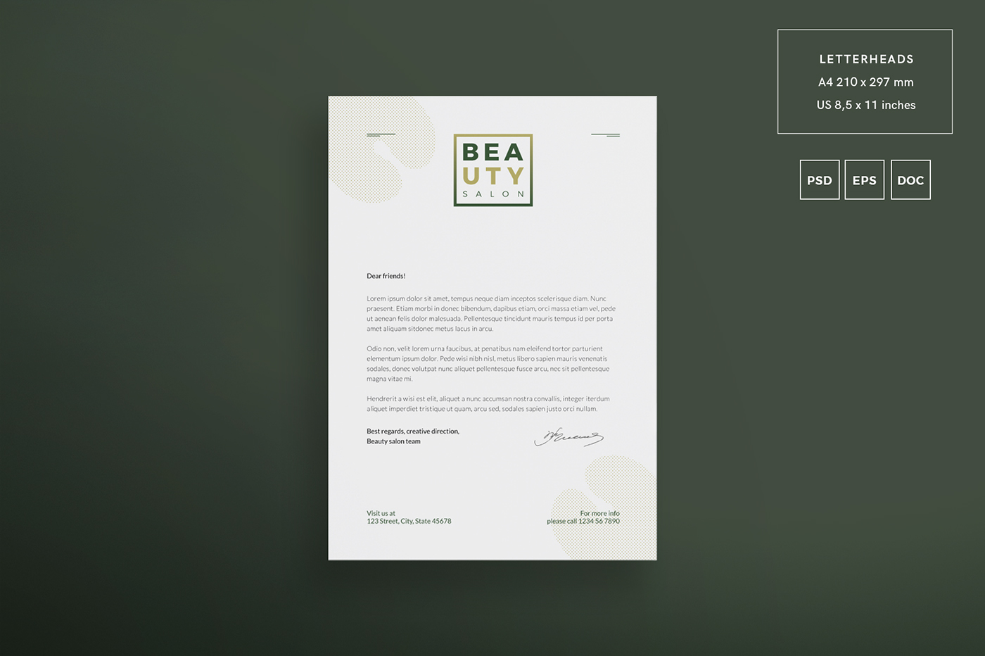 Beauty Salon   Modern and Creative Templates Suite on Behance
