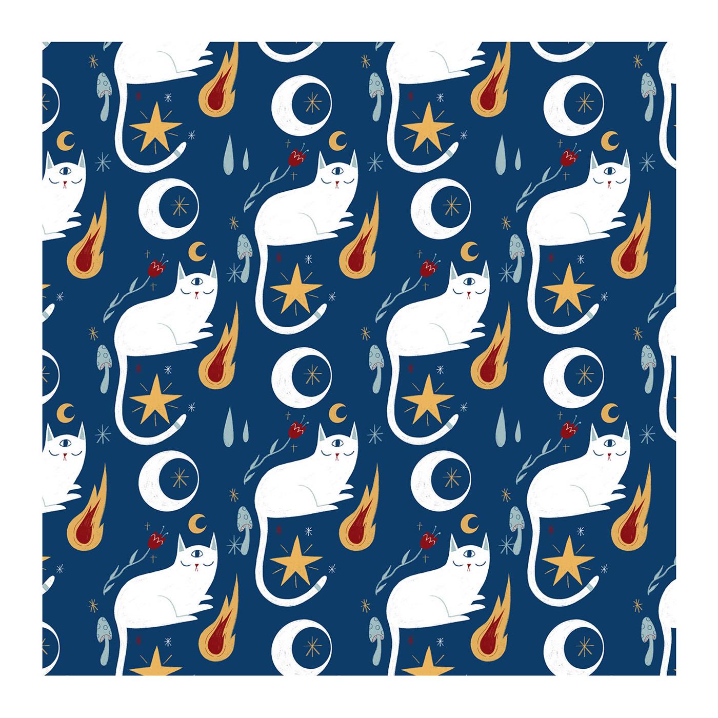 art illustartion Magic   pattern pattern design