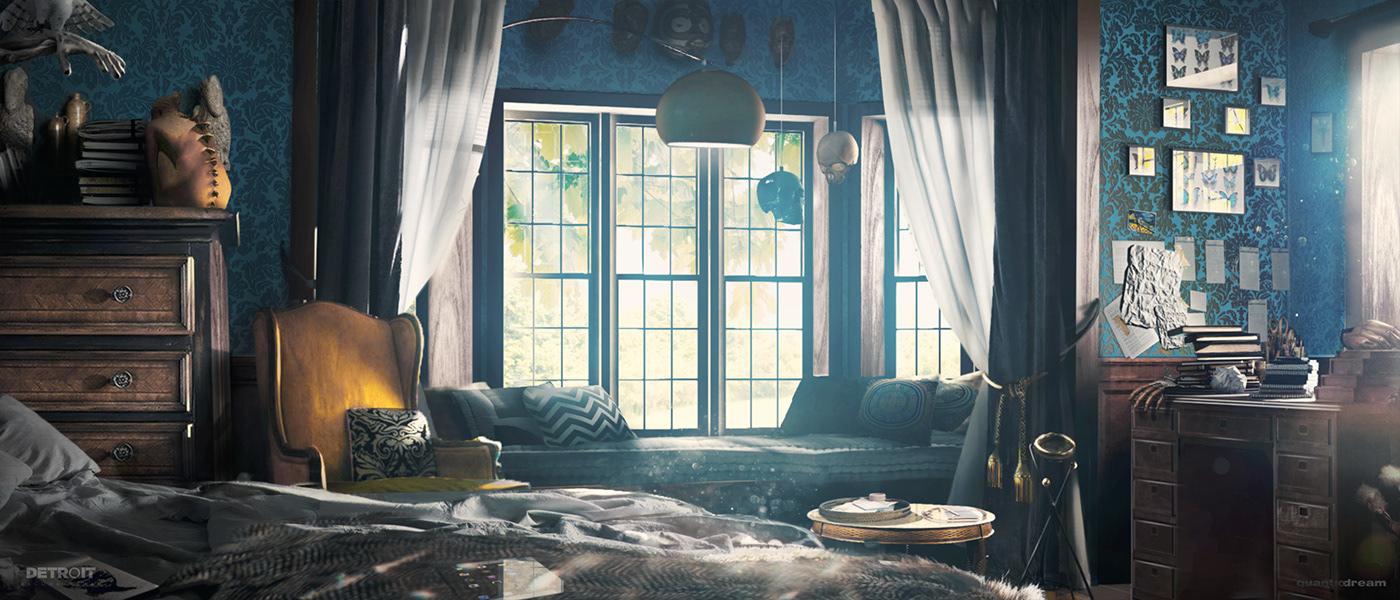 concept art detroitbecomehuman gameart painting   photoshop art digitalart