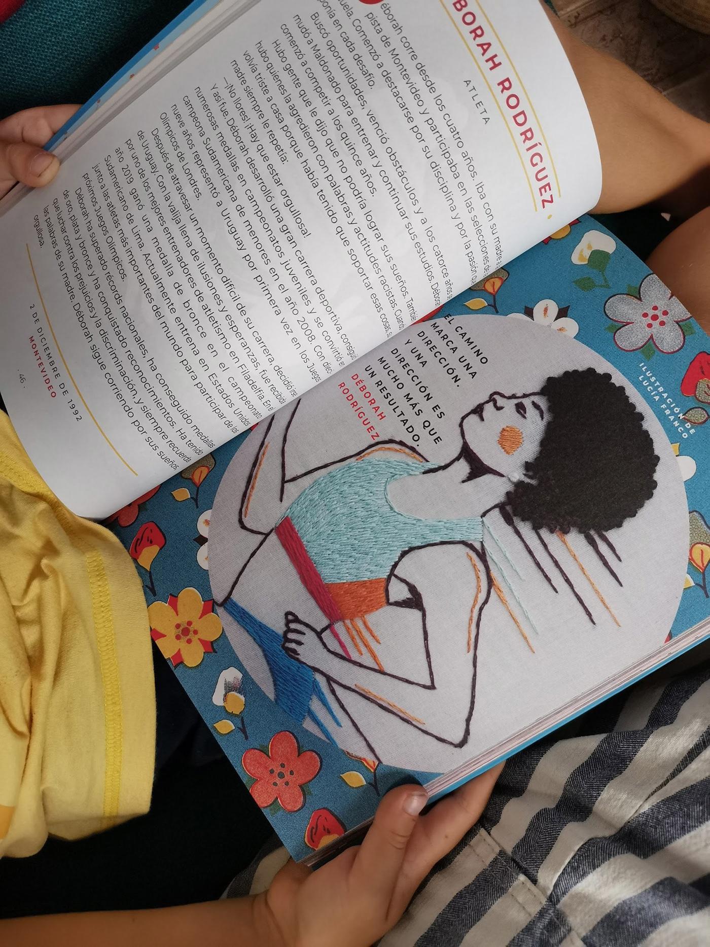 bordado Diseño editorial ilustracion