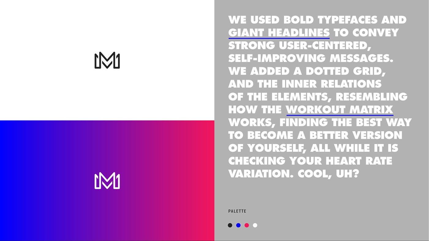 identity fitness training workout gym identidad logo app Website
