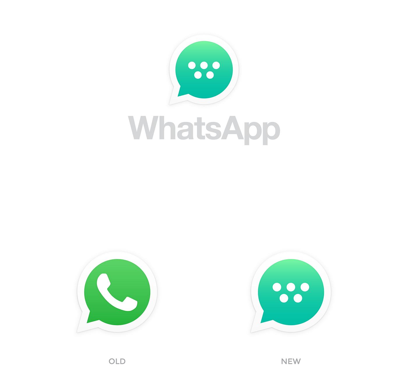 The new WhatsApp on Behance