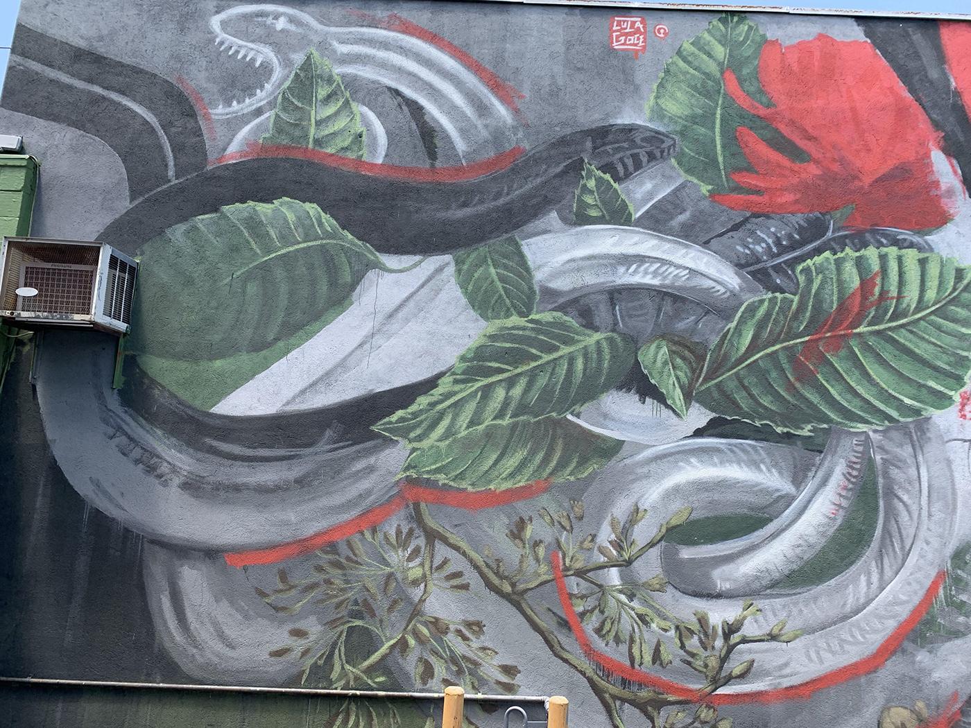 arte urbano FINEART Illustrator Lula Goce Mural painting   streetart urban art
