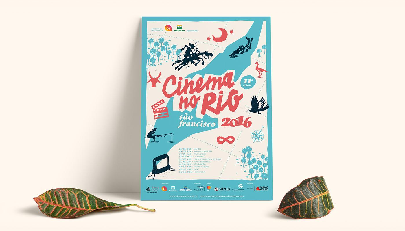 identity print linoleum poster design graphic design  Cinema GRAVURA linogravura   silkscreen