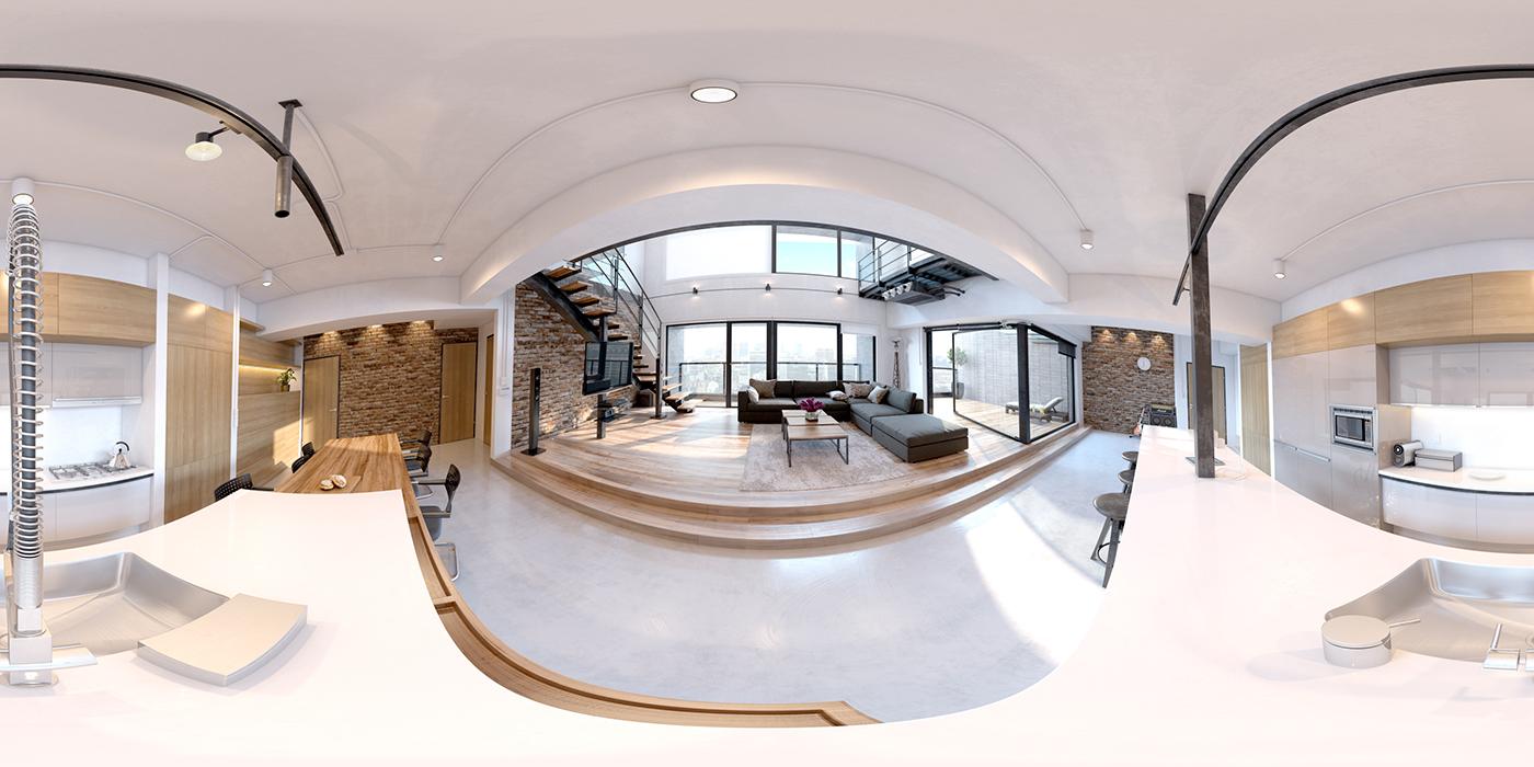 360view vista360 kitchen living openspace Render vray postproduction pano2vr giuseppealbanese gastudiodesign ga design Interior Project