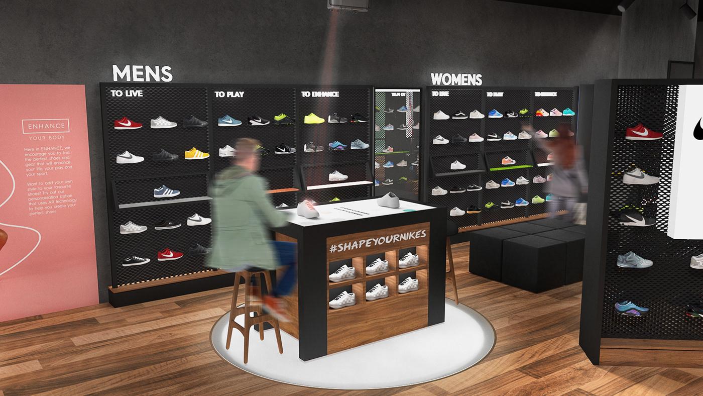 Retail design branding  sports wellbeing graphic design  app design Website Design