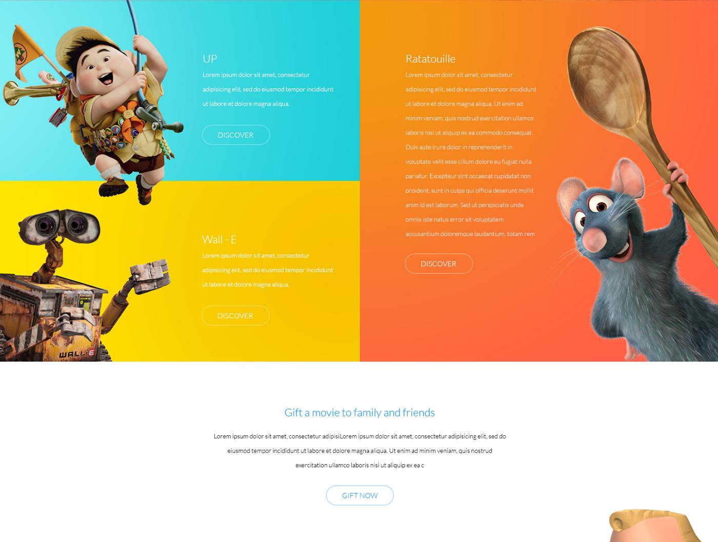 pixar movie studio animation studios minimalistic Whitespace apple Steve Jobs characters Renderman apple watch watch app interactive design Responsive logo Webdesign