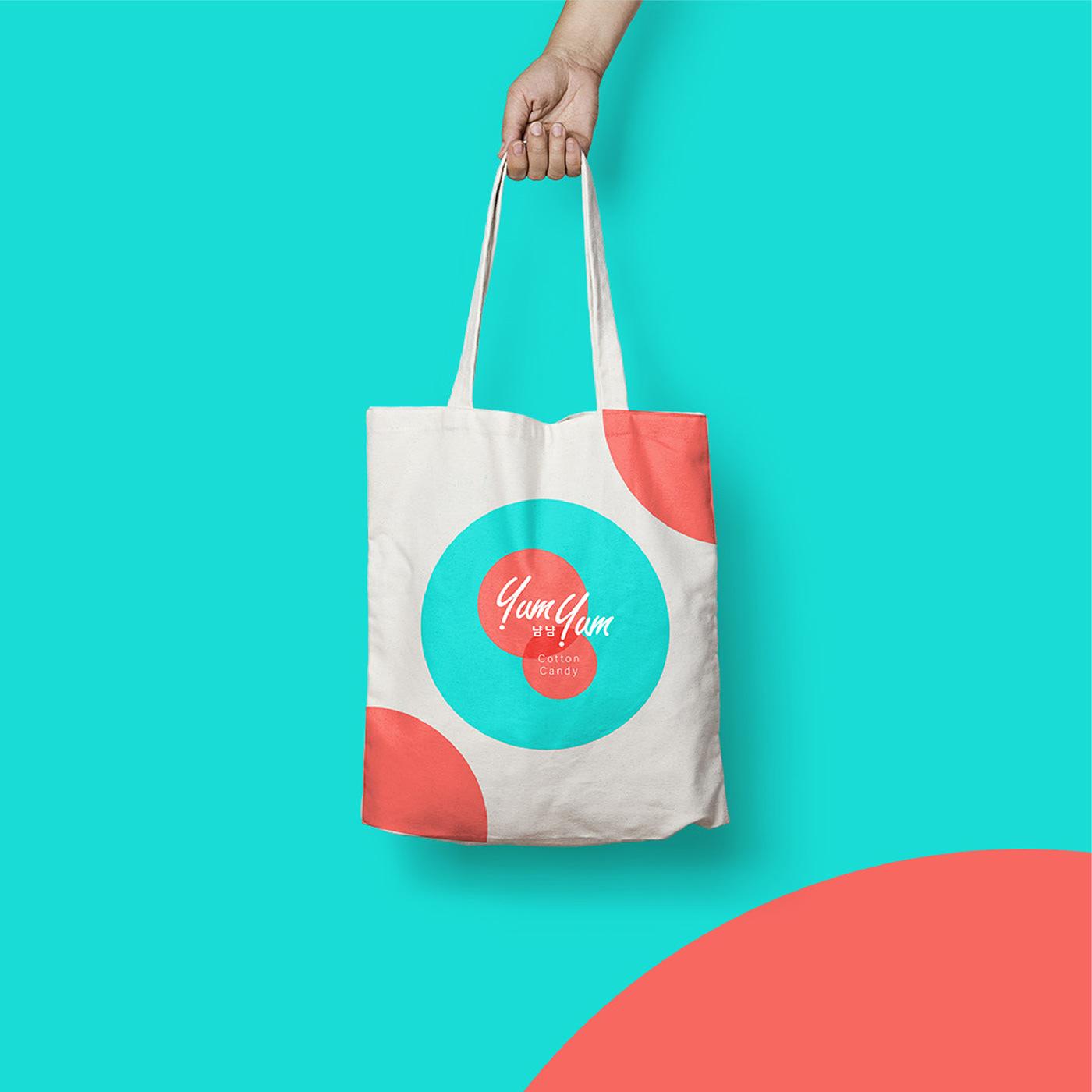 cotton candy Packaging design desain Kemasan branding  Hangul korean sweet pink