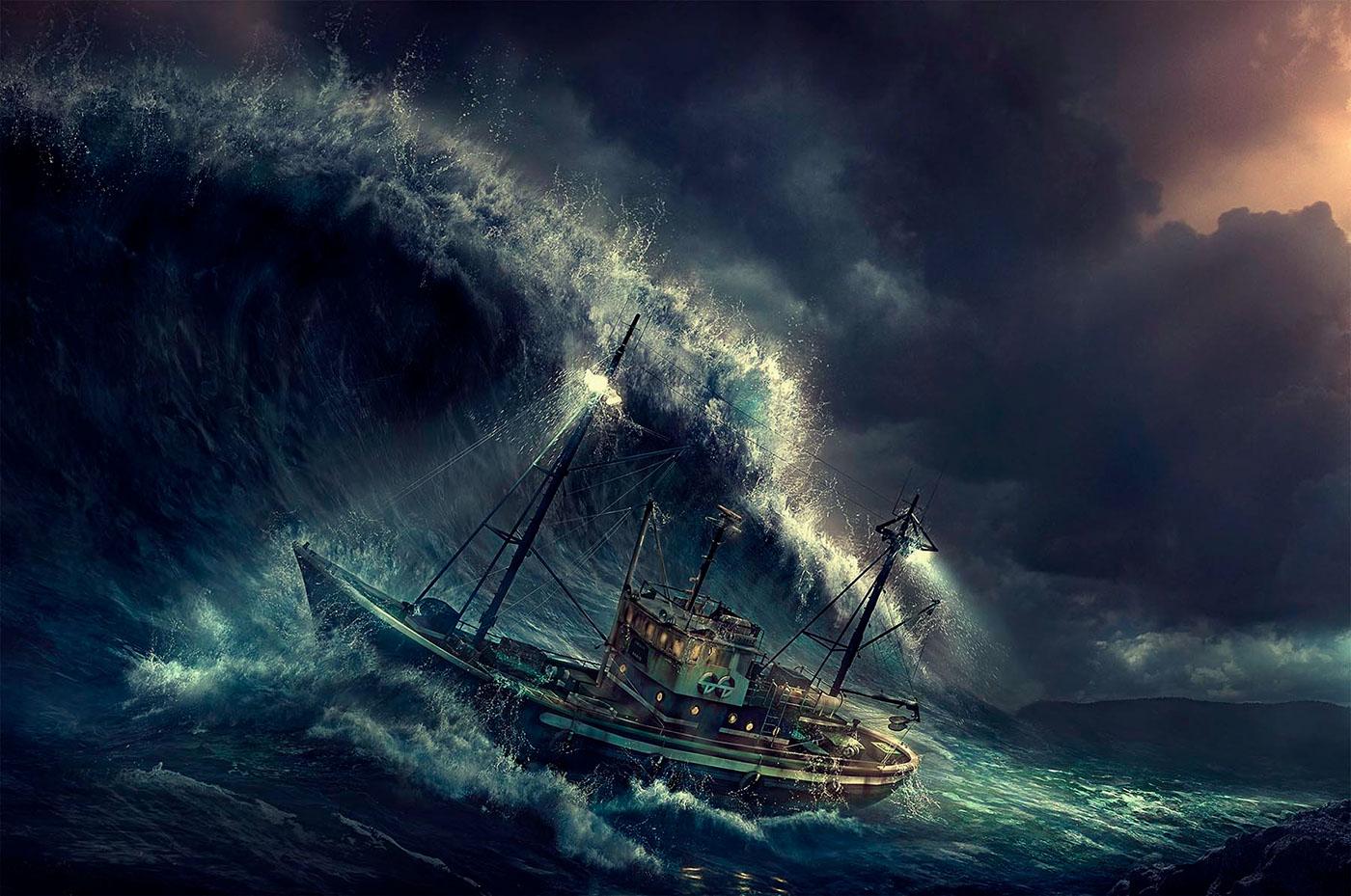 парусник в штормовом море фото проведи