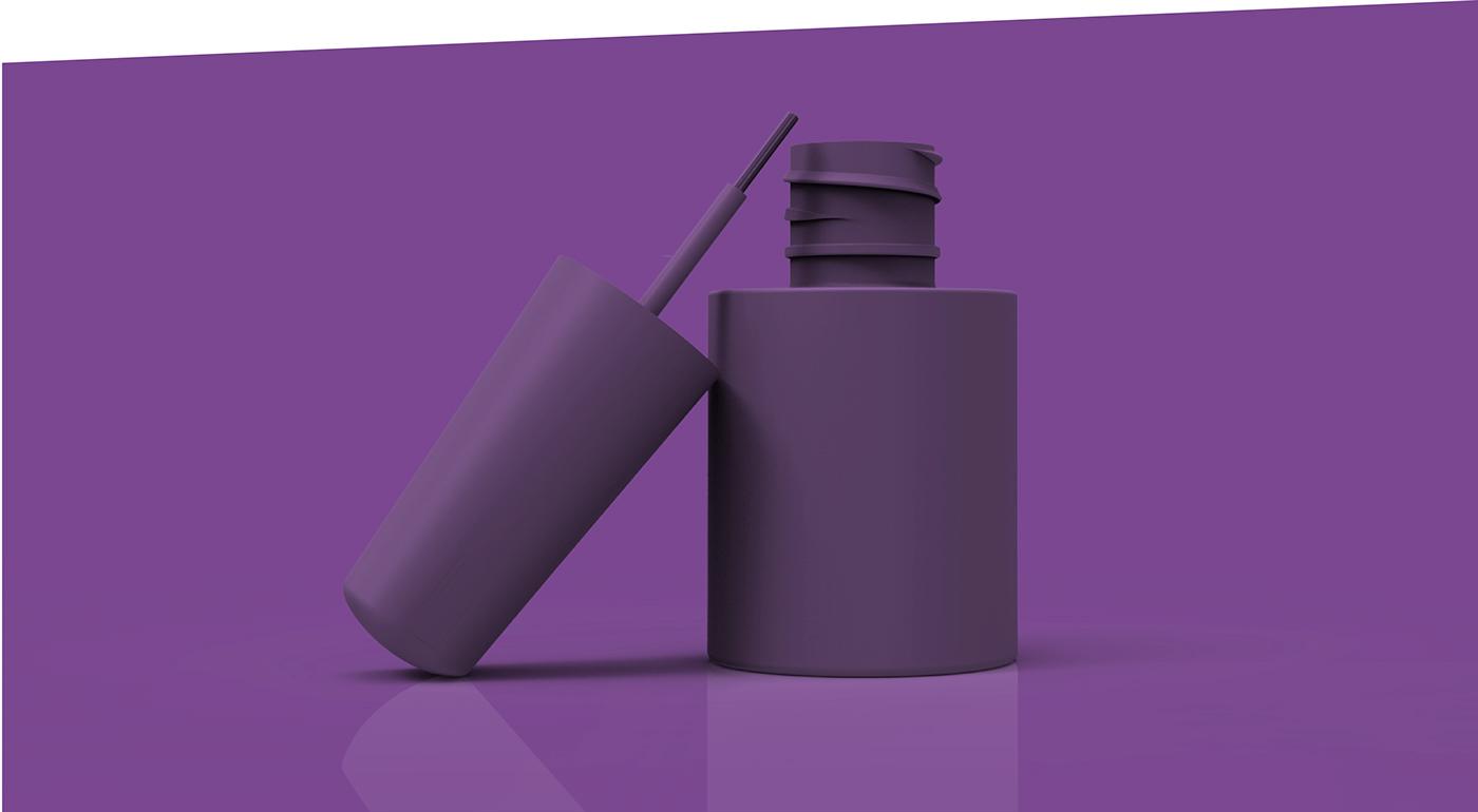 3D modeling packing envase model empaque recamier Esmalte