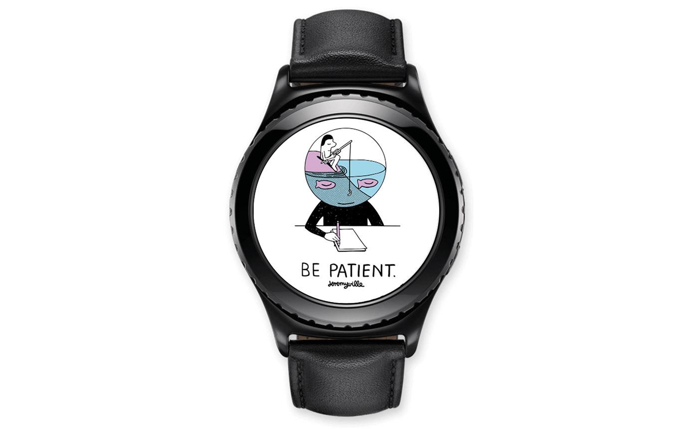 MRTIME watchface Smart watch ux UI portfolio Digital Contents Wearable Jeremyville