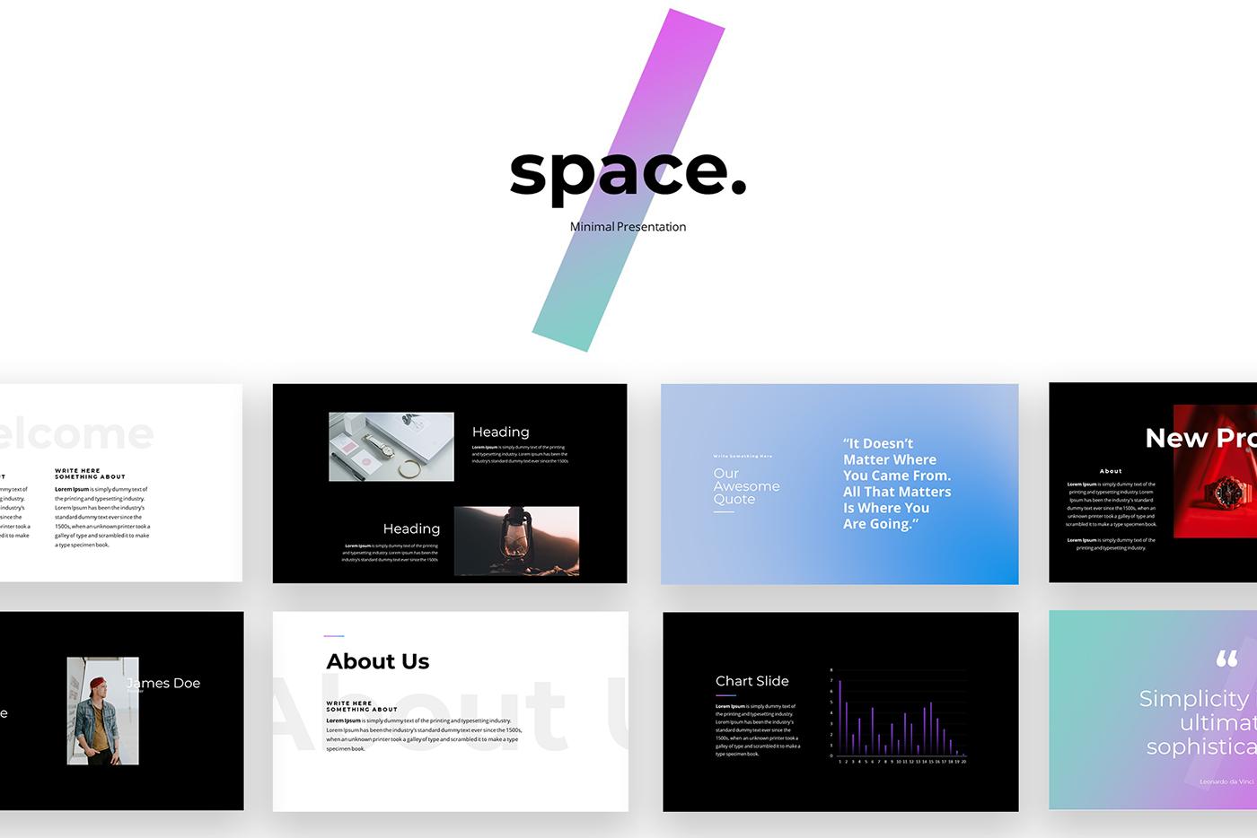 presentation Powerpoint PPT minimal space powerpoint Space  miniaml presentation minimal ppt modern adobeawards