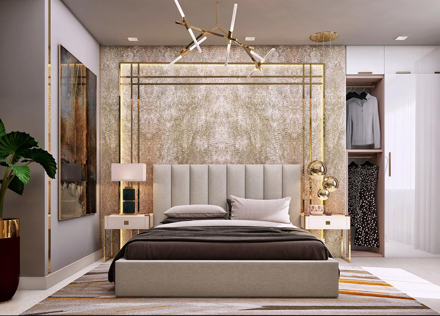 luxurious master bedroom  dubai on behance