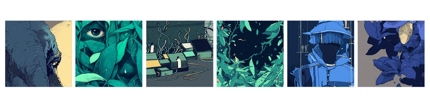 editorial pencil scientific plants ink dark detailed animation  analog