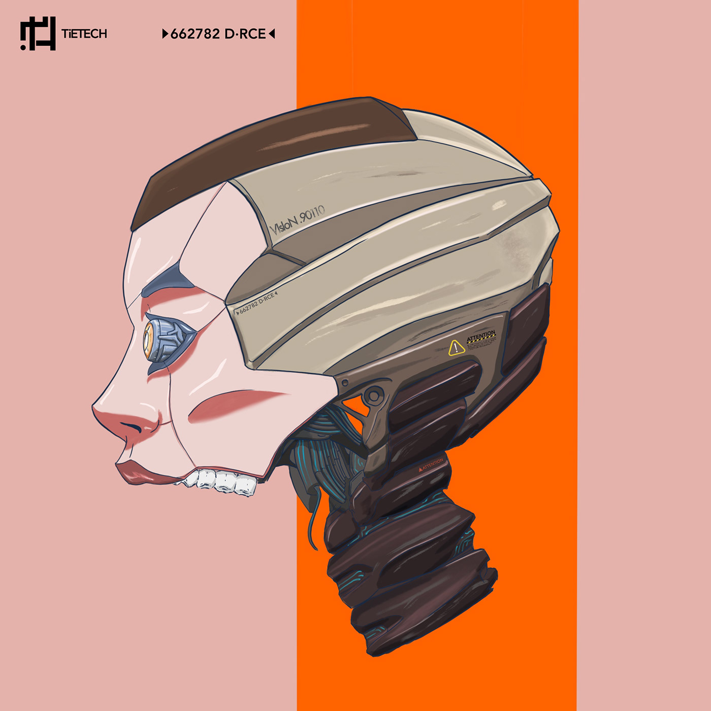 Robot character illustration