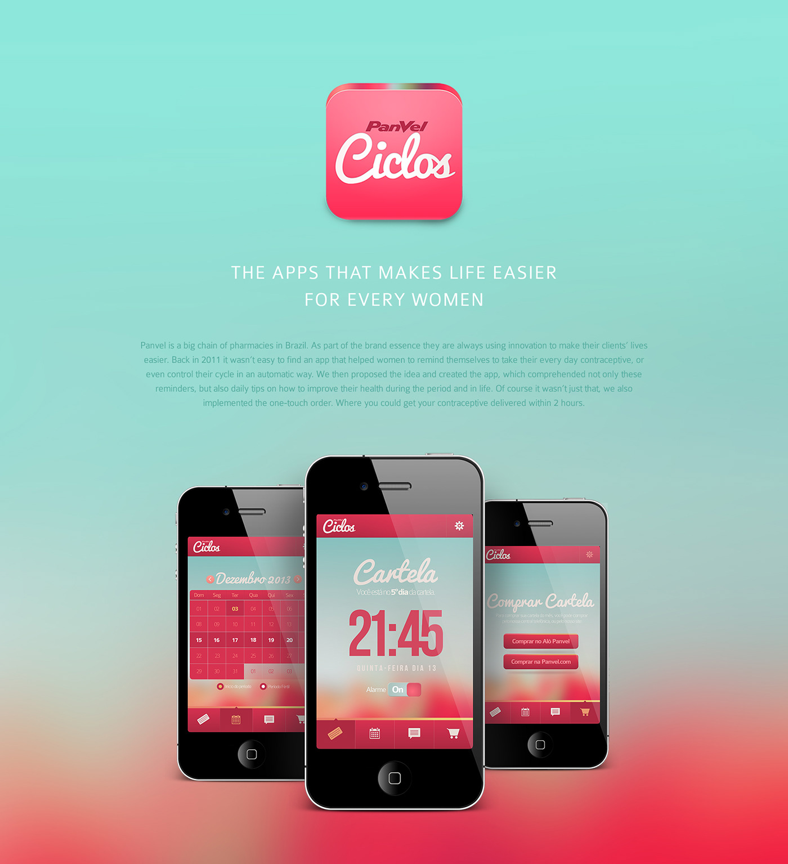 panvel medicine contraceptive blue pink mobile app iphone iPad Ciclos cicle woman girl